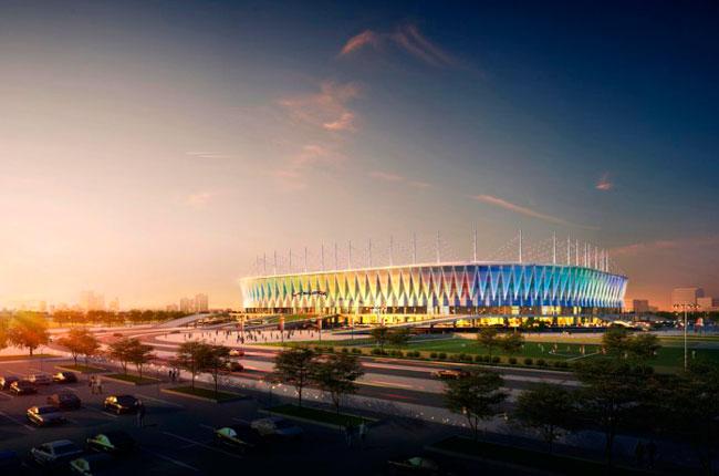 Подсветка стадиона Ростов арена