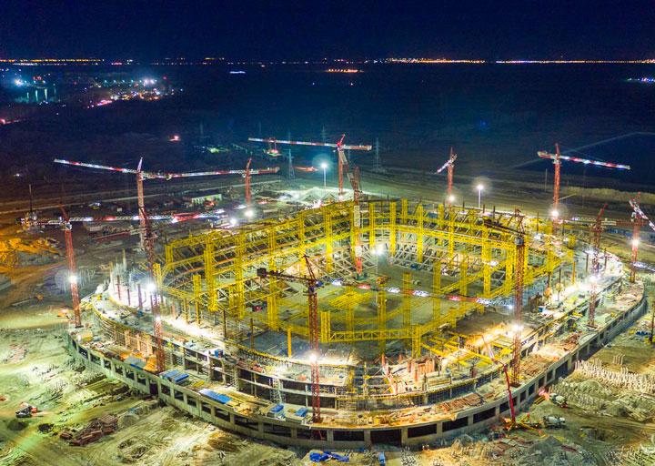Строительство стадиона в Ростове