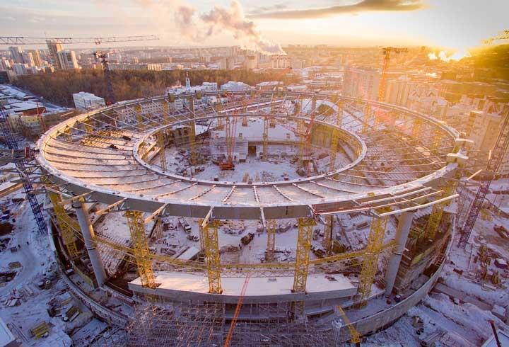 Реконструкция и ремонт стадиона в Екатеринбурге
