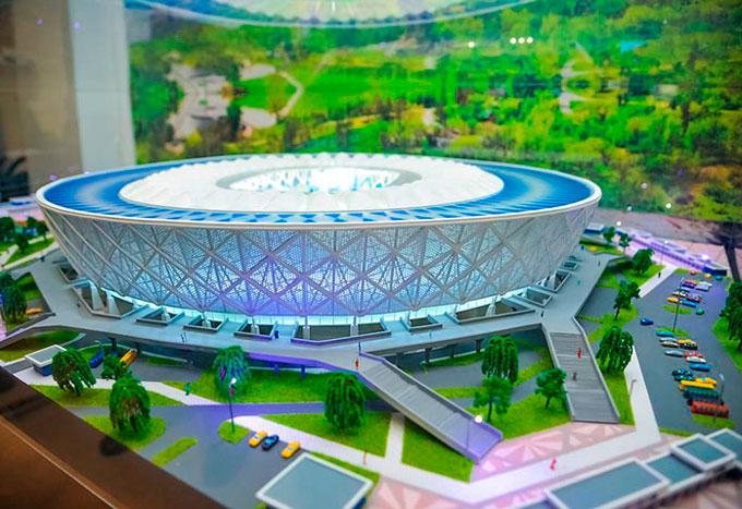 Конструкция и вместительность стадиона в Волгограде
