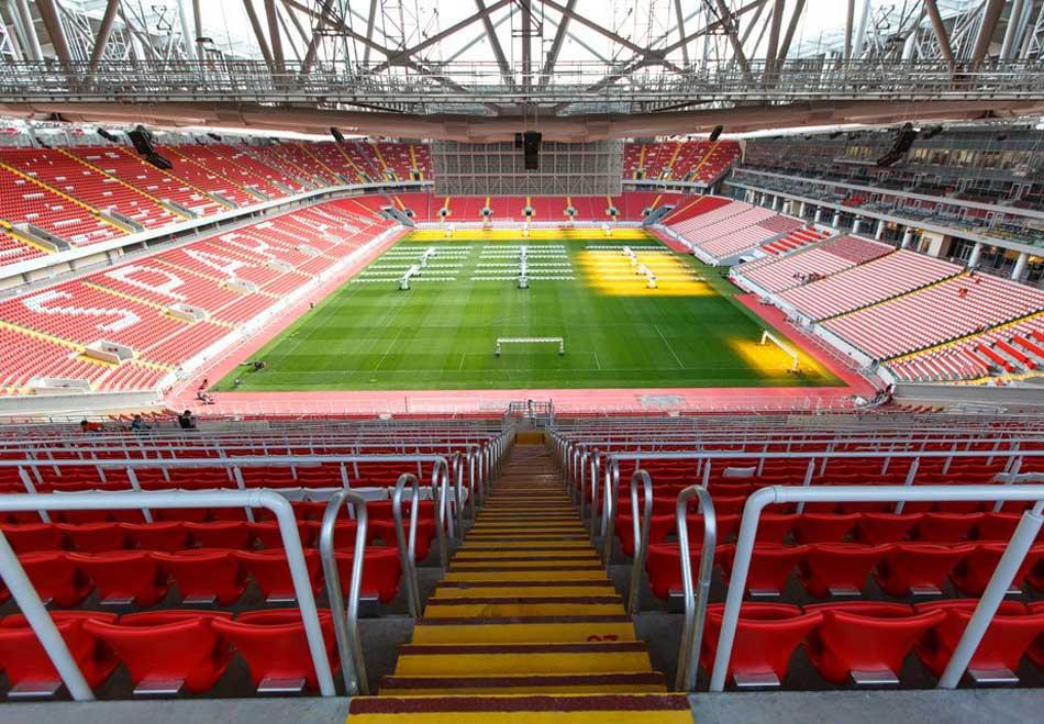 Вместительность стадиона внутри