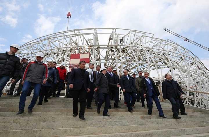 Строительство стадиона мордовия арена