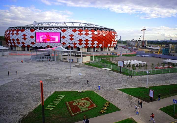 Вход в стадион спартак в Москве