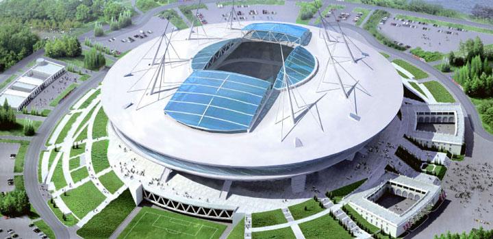 Стадион летающая тарелка в СПб