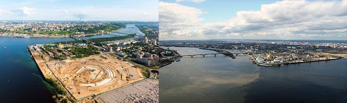 Нижний Новгород: стрелка рек