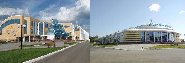 Саранск: дворец спорта и ледовый дворец