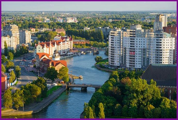 Калининград: вид сверху