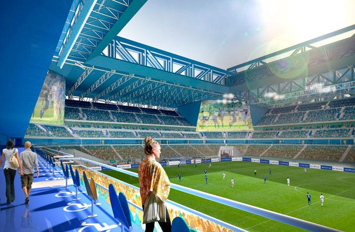 внутри вместительность балтика стадиона