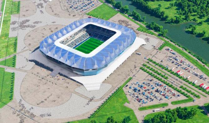 Калининград новый стадион с высоты