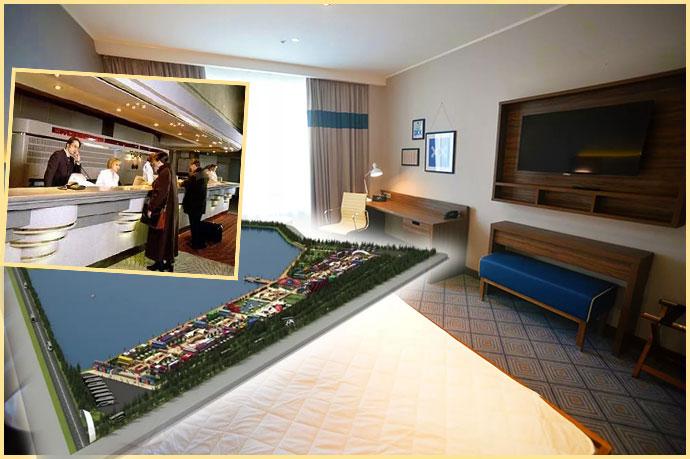 Гостинечный номер, футбольная деревня в Саранске и стойка регистартуры в отеле