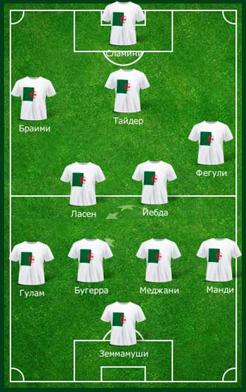 Команда Алжира на поле