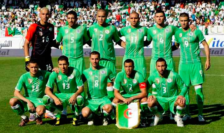 Команда Алжира на чемпионате мира 2018