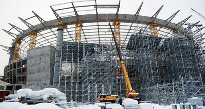 Готовность стадиона в Екатеринбурге