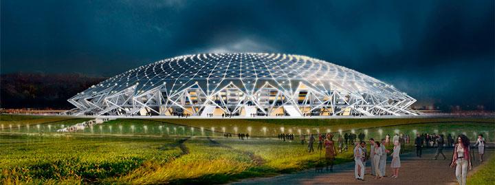 как выглядит космос в самаре стадион