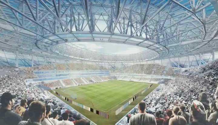 схема стадиона и вид его внутри