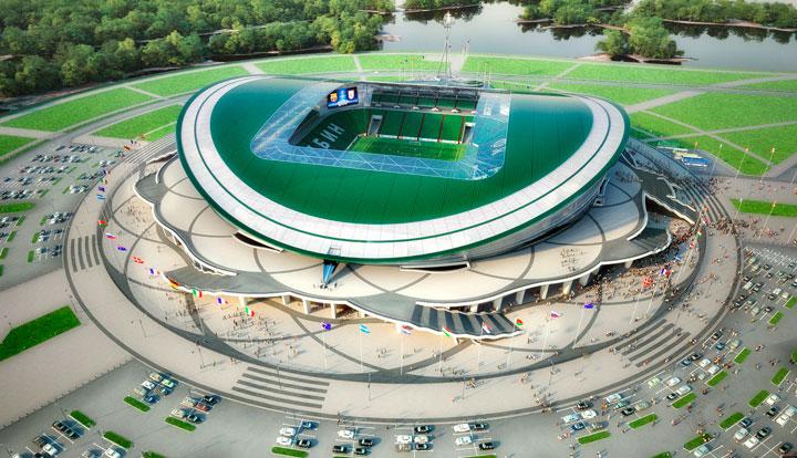 Казанский стадион в 2018 на чм