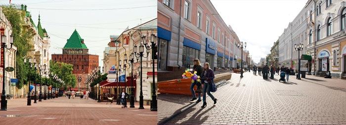 Нижний Новгород: большая Покровская улица