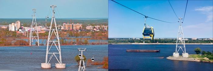 Нижний Новгород: канатная дорога