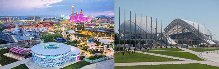 Сочи: олимпийский парк и стадион Фишт