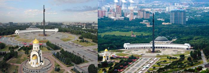 Москва: парк на Поклонной горе