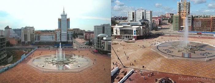 Саранск: площадь тысячелетия