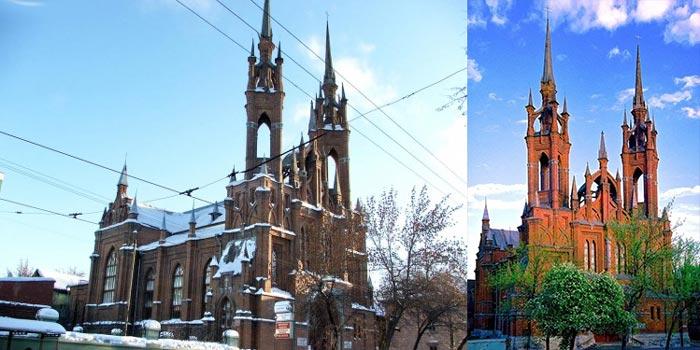 Польский костел расположен на улице Фрунзе, в центре Самары