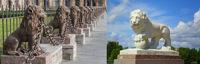 Санкт-Петербург: львы сторожат город