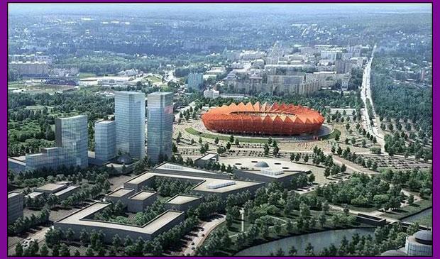 Стадион для ЧМ по футболу 2018 в Саранске