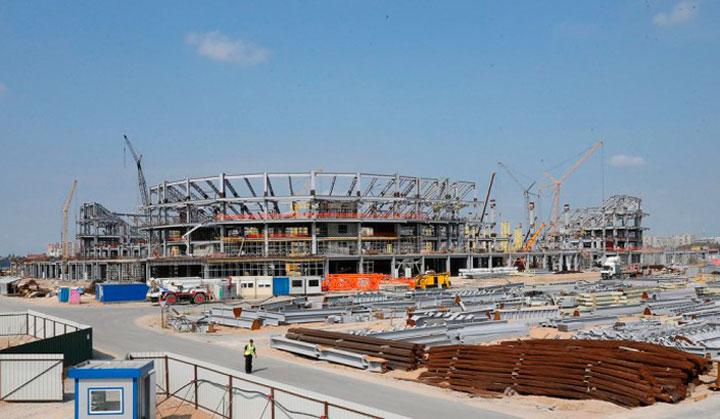 в 2017 строительство ход калининградского стадиона