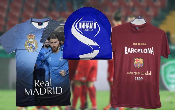 Футболки Реал и Барселона, кепка динамо