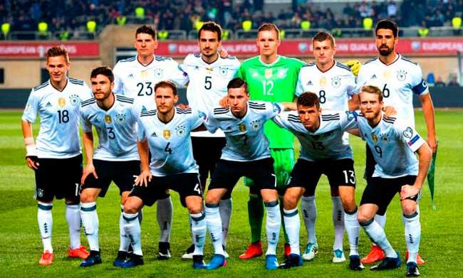 Состав сборной Германии по футболу на играх ЧМ