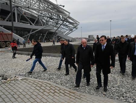 Дмитрий Азаров и стадион в самаре