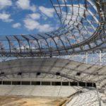 Монтаж кровли на Волгоградском стадионе- Волгоград арена