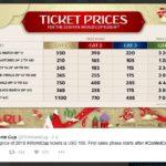Цены на билеты- на Чемпионат мира по футболу FIFA 2018 в России