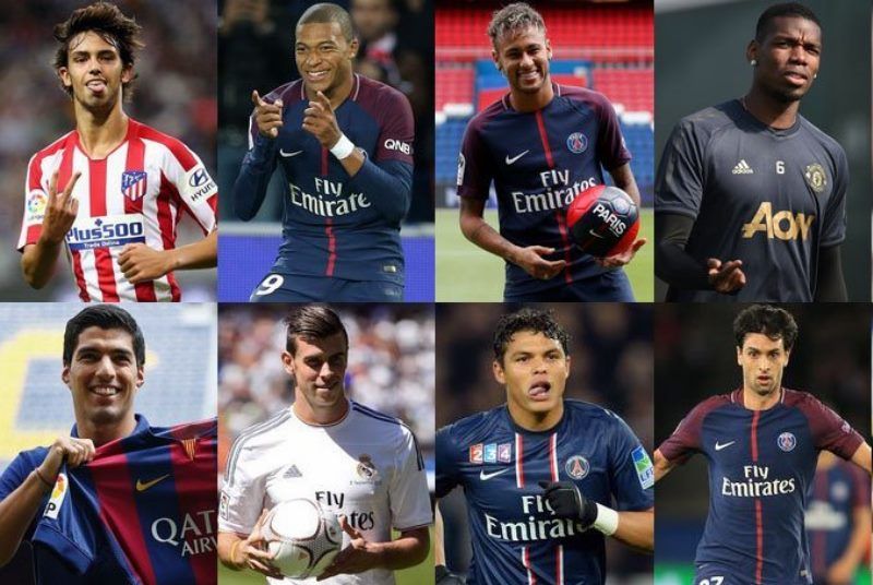 Топ 10 футболистов, которые перешли в другие клубы за очень большие деньги.
