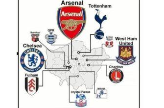 схема клубов и городов