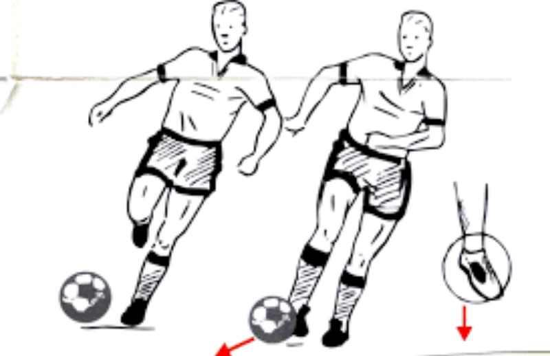 мячом и удар по воротам