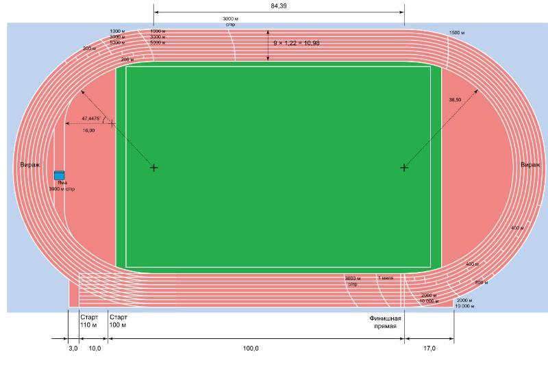 чертеж стадиона