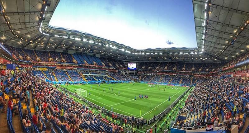 стадион днем