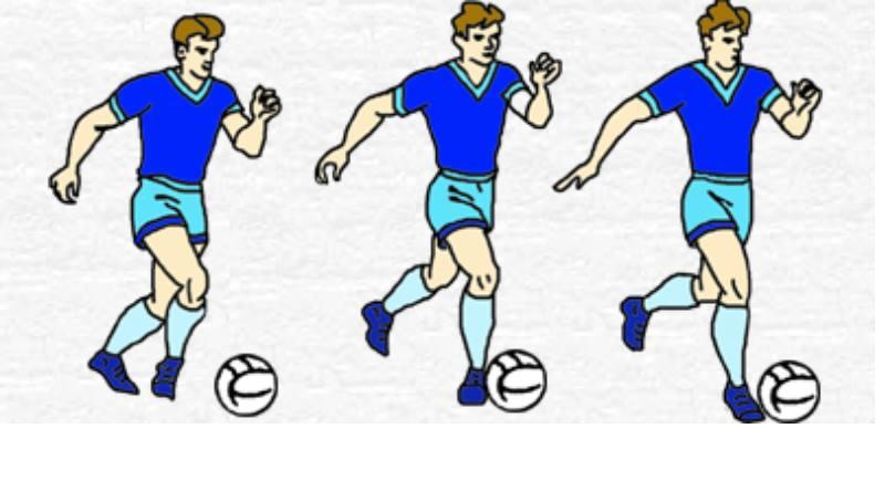 Держите левую ногу на два фута впереди правой