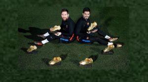 Лионель Месси имеет 6 золотых мячей, а Криштиану Роналду 5 золотых мячей